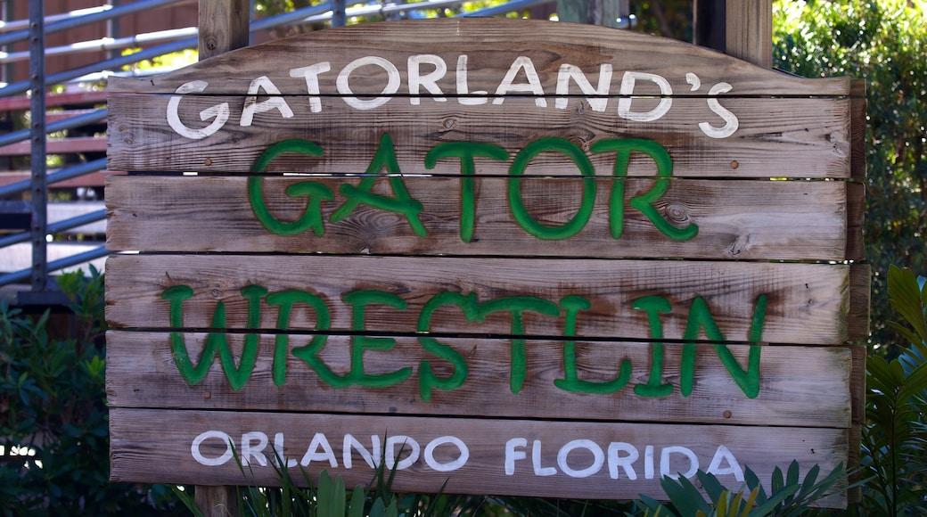 Gatorland® showing signage