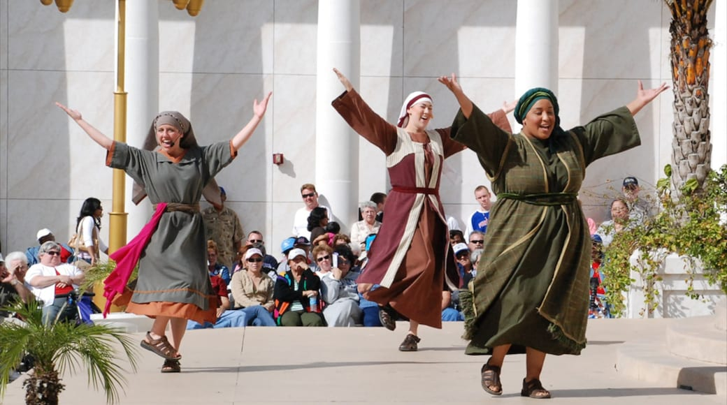 Holy Land Experience featuring religious aspects and performance art
