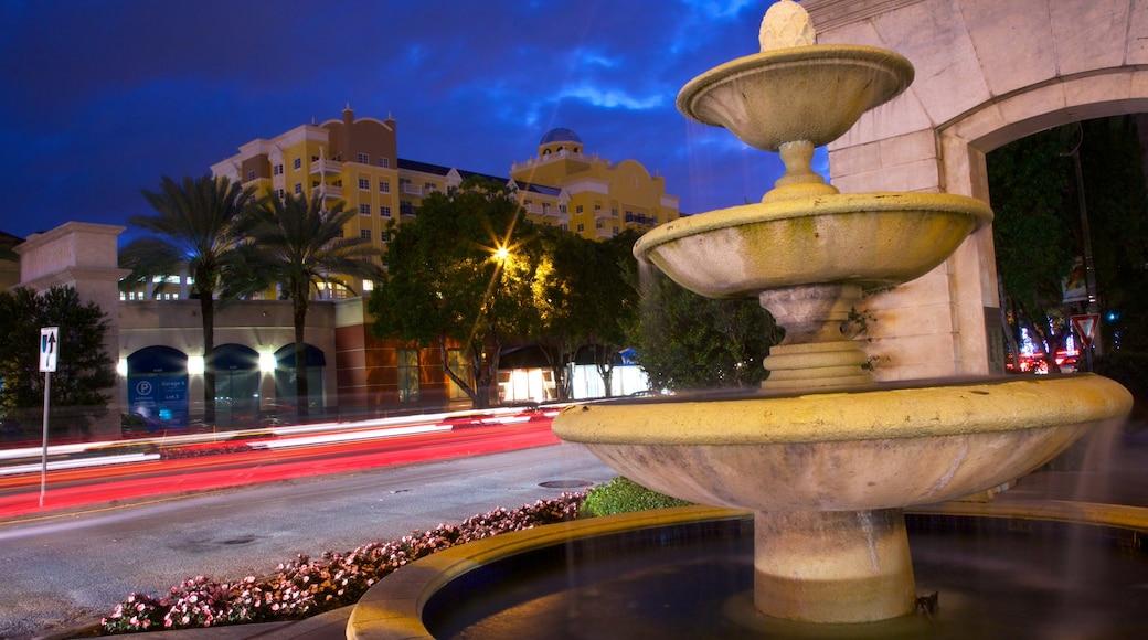 Miracle Mile bevat een fontein, straten en een stad
