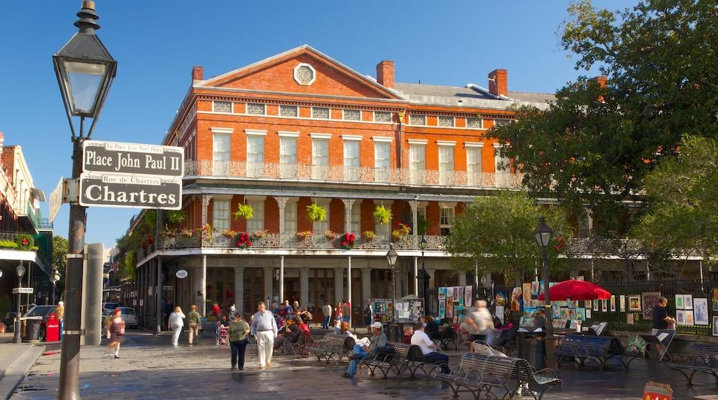 French Quarter ซึ่งรวมถึง เมือง, มรดกทางสถาปัตยกรรม และ ภาพท้องถนน