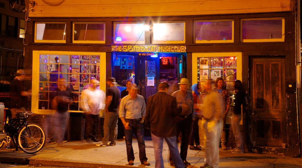 Frenchmen Street Jazz Clubs featuring night scenes, street scenes and nightlife