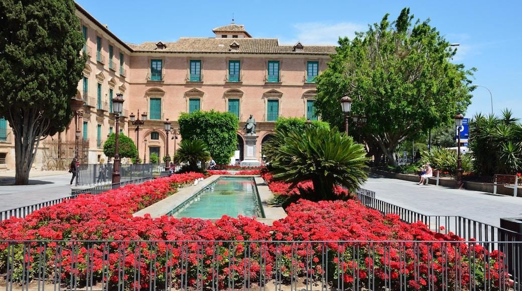 Murcia som inkluderar blommor och en trädgård