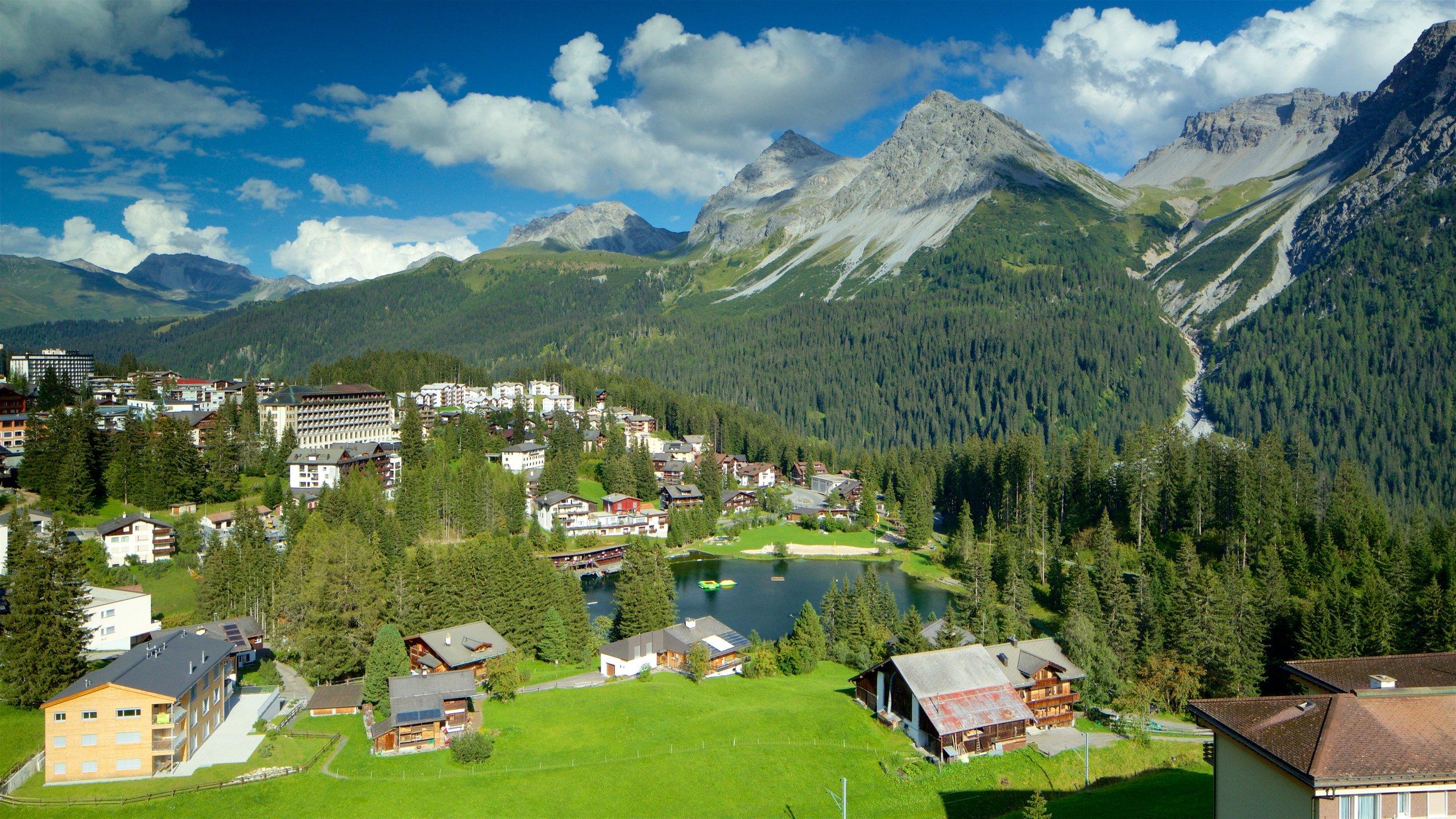 Skigebiet Arosa Lenzerheide, Vaz-Obervaz, Graubünden, Schweiz