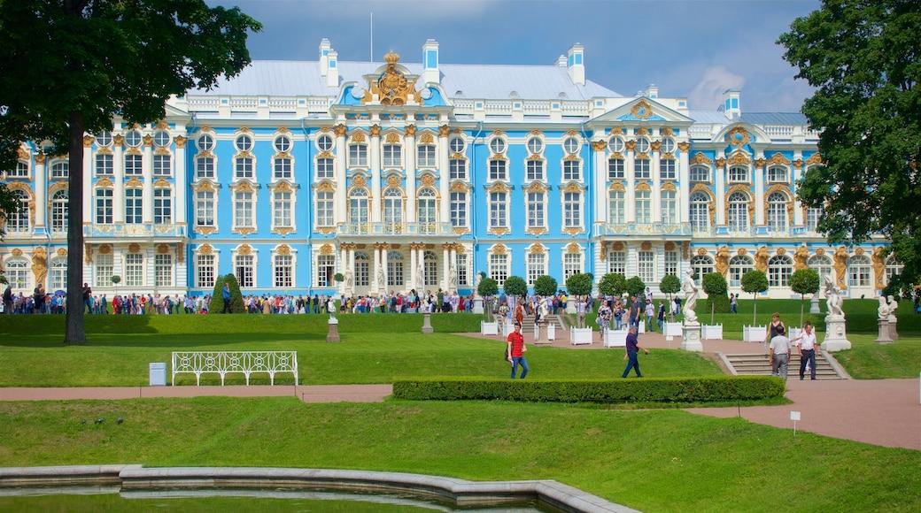Katarinas palats och park i Tsarskoye Selo som inkluderar en park och historisk arkitektur