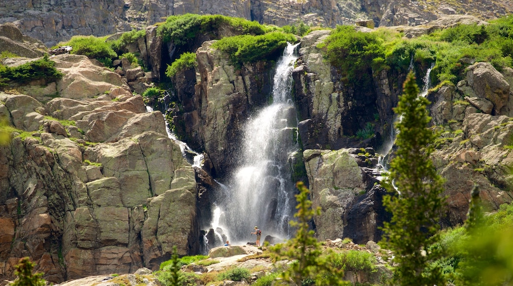 Estes Park which includes a waterfall