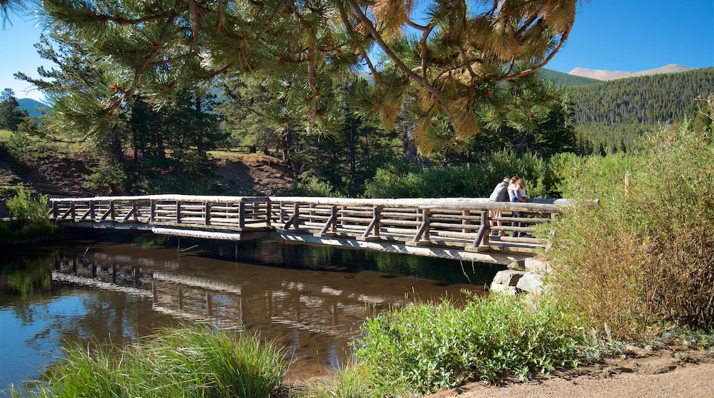 Estes Park which includes a river or creek, tranquil scenes and a bridge