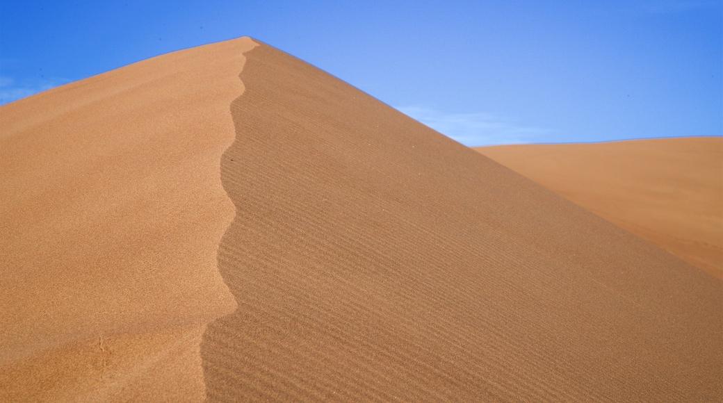 Parc national de Great Sand Dunes montrant vues du désert