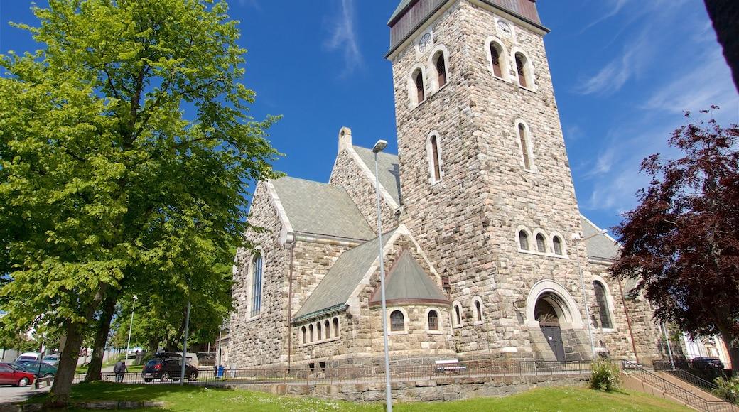 Chiesa di Alesund caratteristiche di architettura d\'epoca