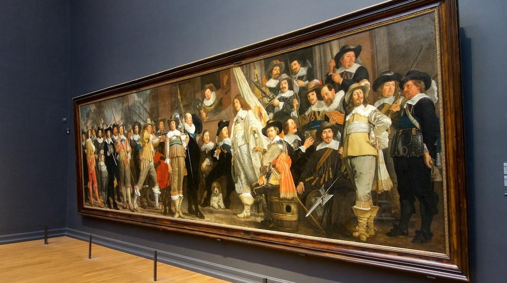 Rijksmuseum som visar konst och interiörer