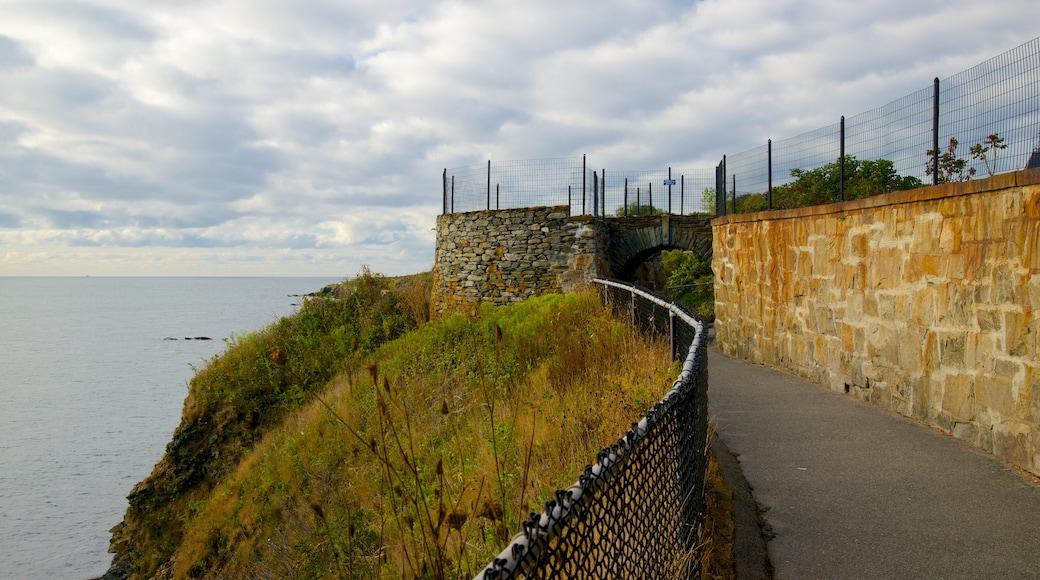 Cliff Walk featuring general coastal views