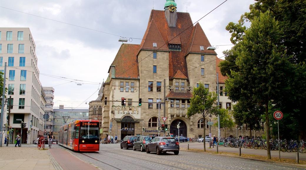 Bremen mit einem Eisenbahnbetrieb