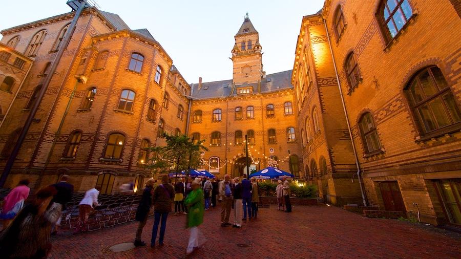 Bremen som omfatter kulturarvsgenstande såvel som en lille gruppe mennesker