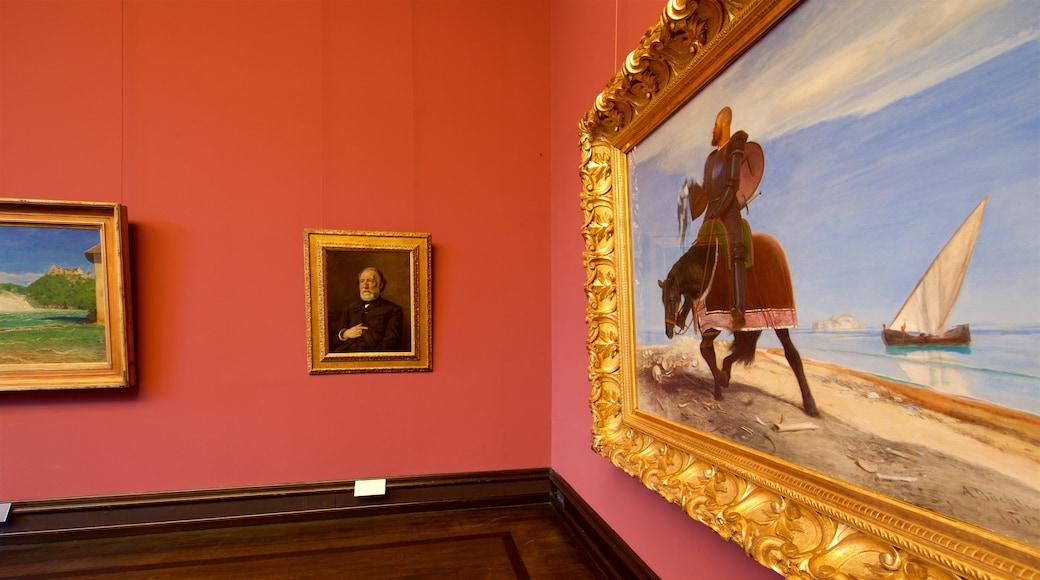 Kunsthalle Bremen mostrando arte e vista interna