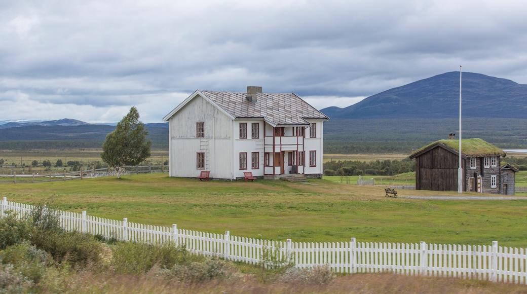 Dombås mit einem ruhige Szenerie und Haus