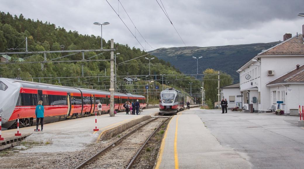 Dombås das einen Eisenbahnbetrieb