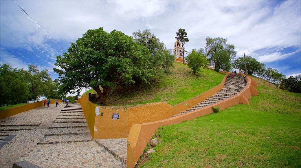 La Virgen de los Remedios Sanctuary featuring a park