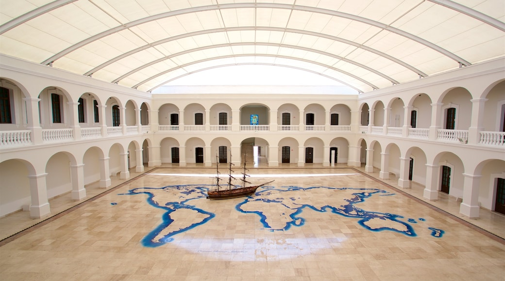 Naval Historical Museum featuring interior views