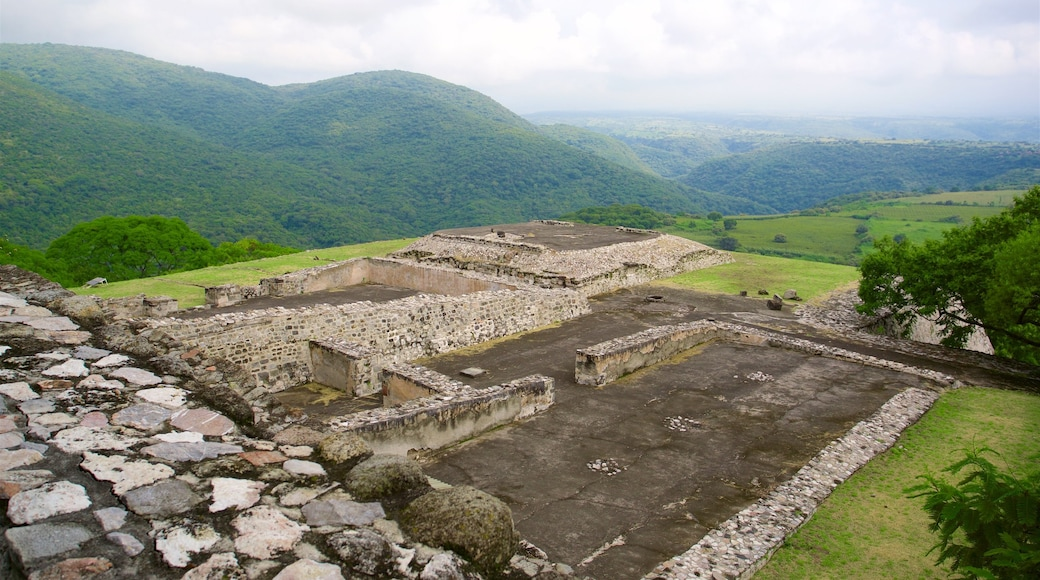Archaeological Monuments Zone of Xochicalco featuring tranquil scenes, building ruins and heritage elements