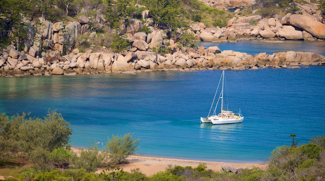 Magnetic Island National Park featuring a bay or harbor, general coastal views and rugged coastline
