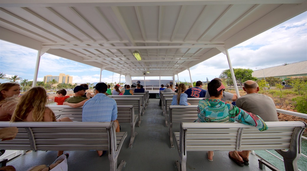 Magnetic Island Ferry Terminal which includes a ferry as well as a small group of people