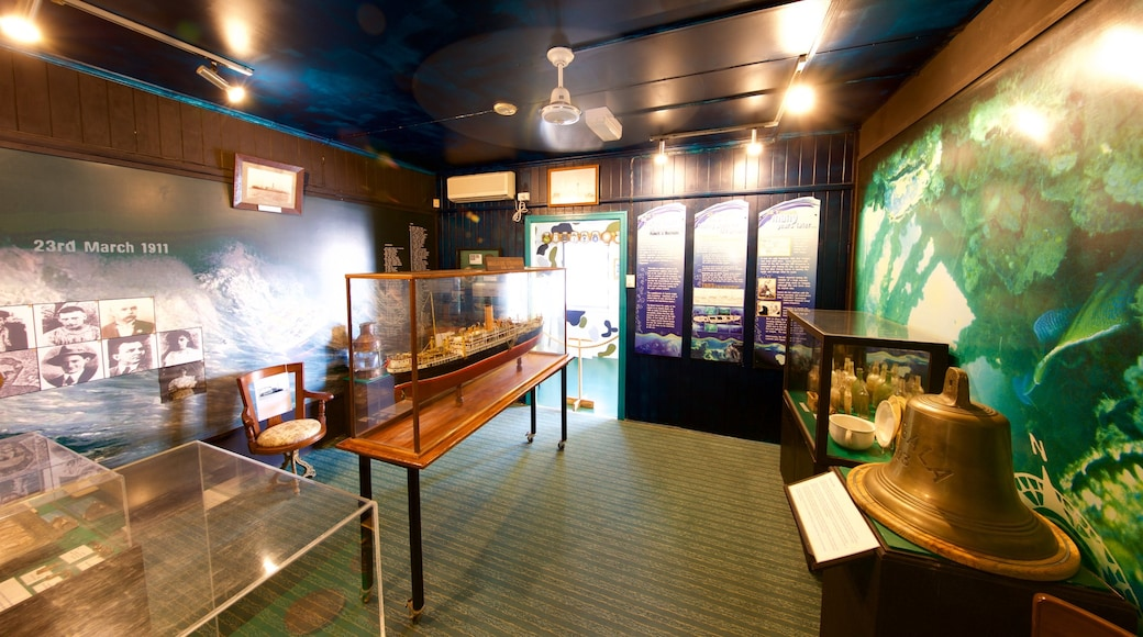 Maritime Museum of Townsville showing interior views
