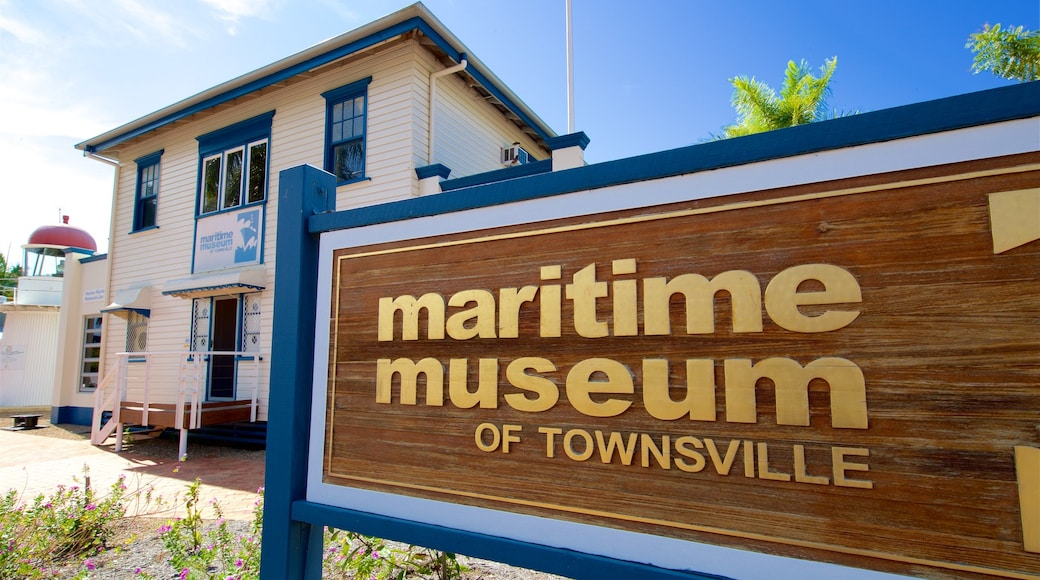 Maritime Museum of Townsville showing signage