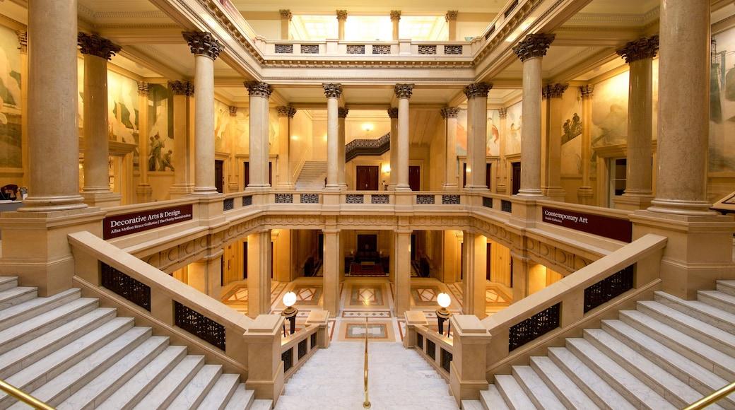 Carnegie Museum of Natural History caracterizando vistas internas e elementos de patrimônio