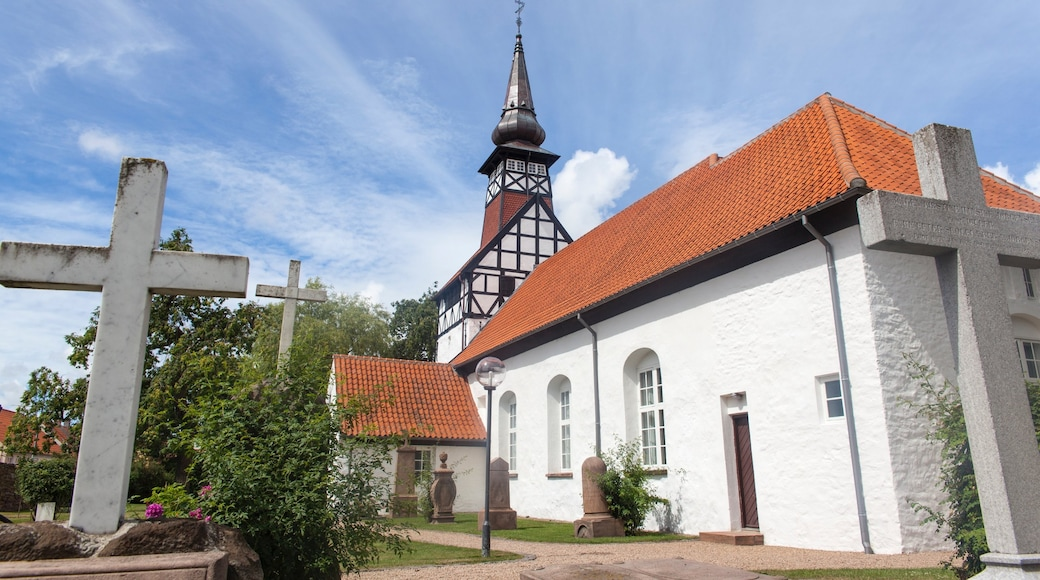 Nexø som omfatter en kirke eller en katedral