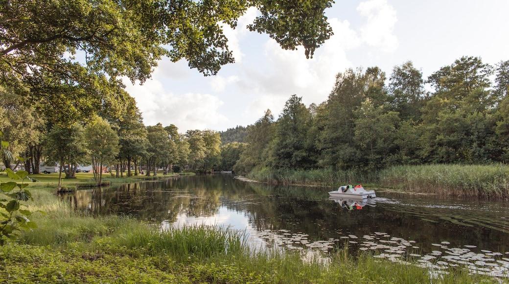Borås inclusief een park, varen en een rivier of beek