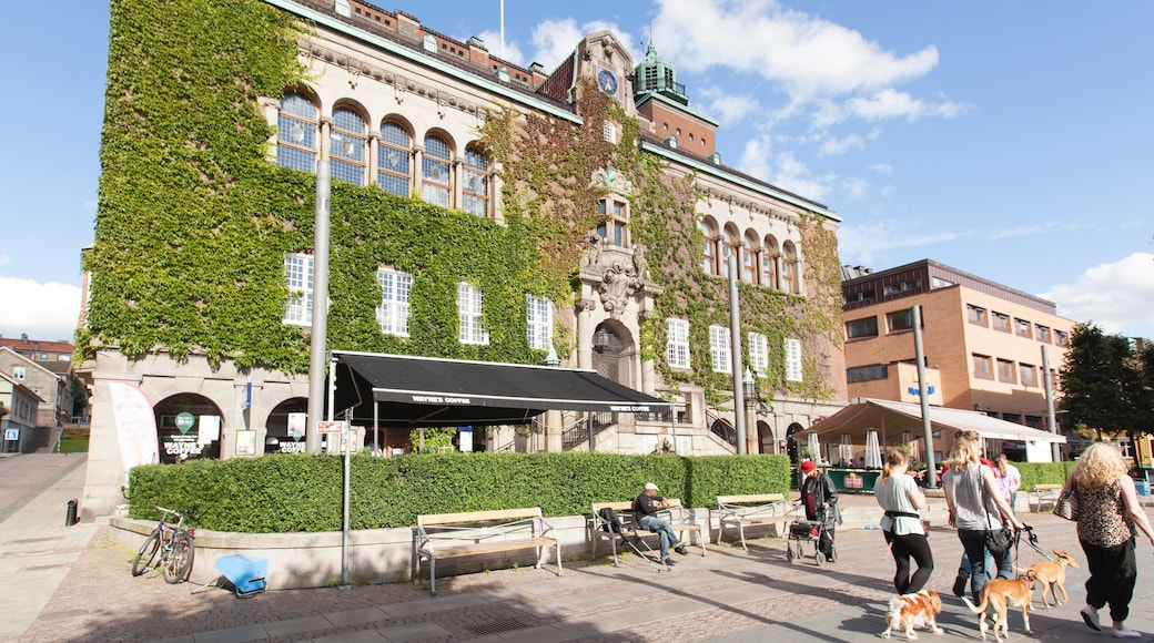 Borås inclusief historisch erfgoed en ook een klein groepje mensen