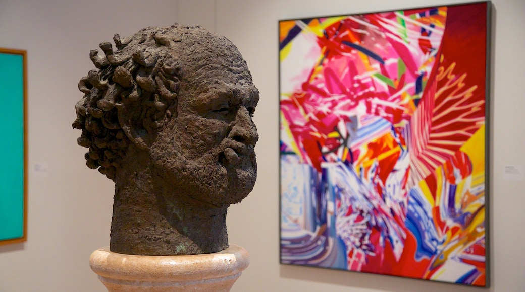 New Orleans Museum of Art which includes interior views, a statue or sculpture and art