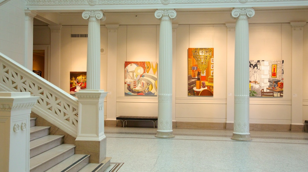 New Orleans Museum of Art which includes interior views and art