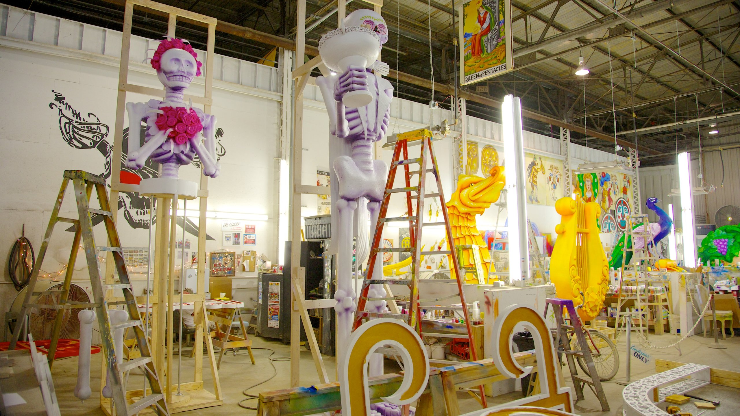 Mardi Gras World which includes interior views