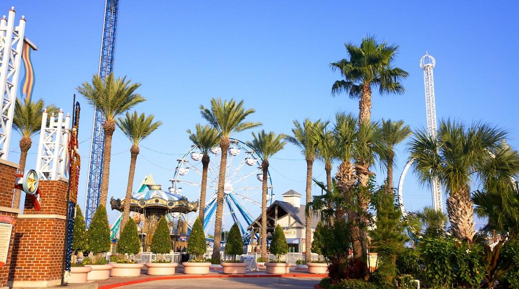 Kemah Boardwalk que inclui cenas tropicais, passeios e um jardim