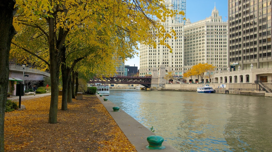 Chicago mostrando un puente, una ciudad y un edificio alto
