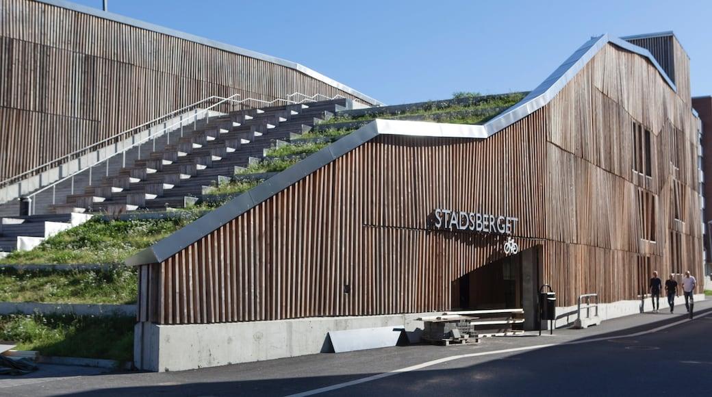 Pitea qui includes signalisation et architecture moderne