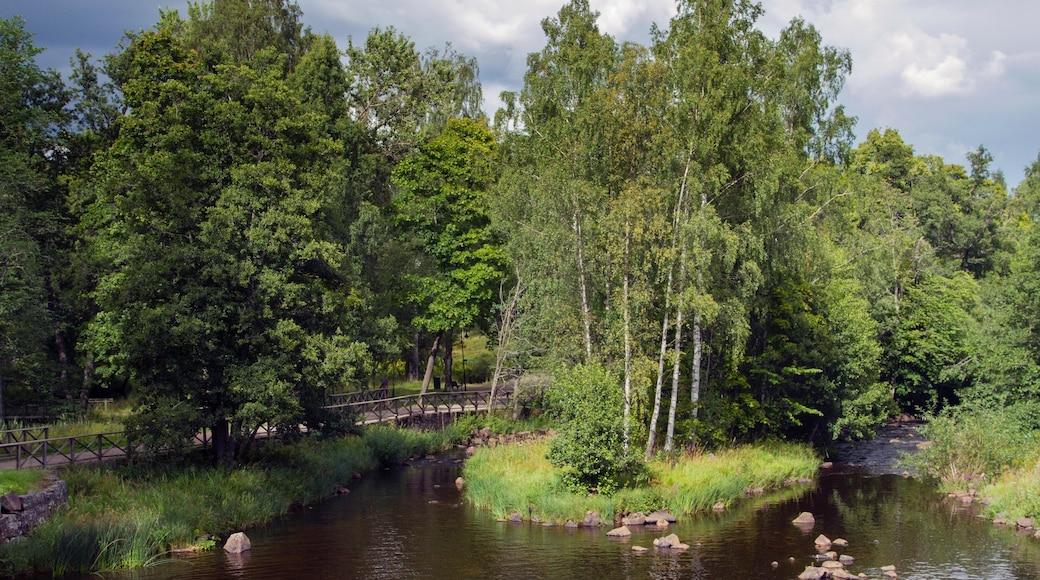 Gavle toont een vijver en een park