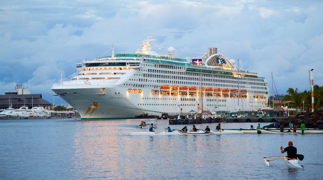 Papeete featuring cruising, a bay or harbour and kayaking or canoeing