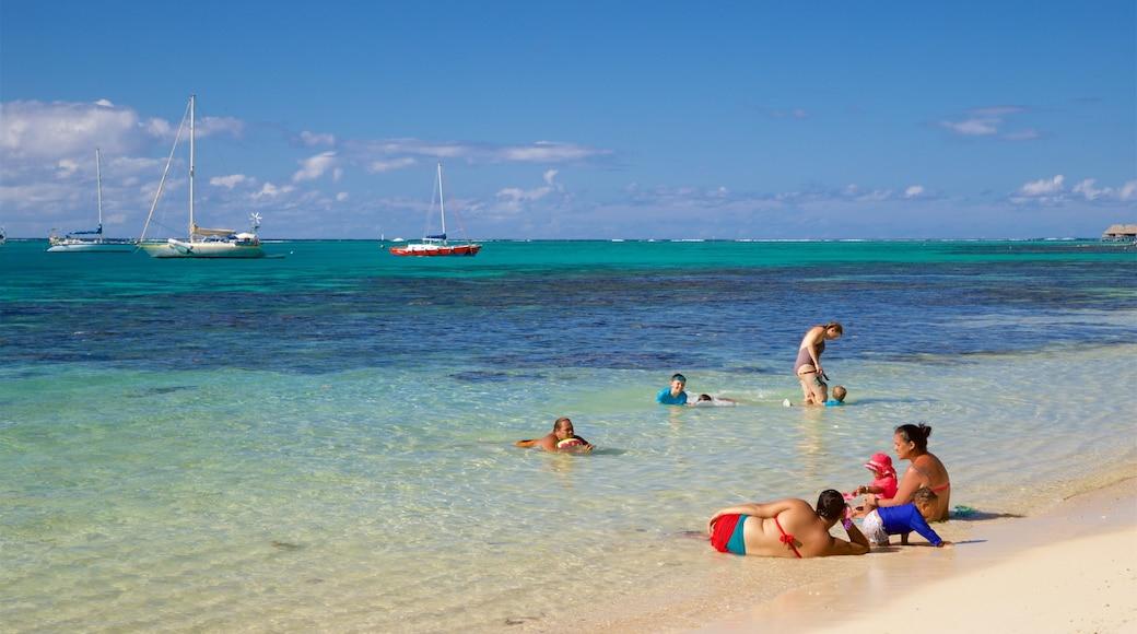 Moorea qui includes plage, vues littorales et scènes tropicales