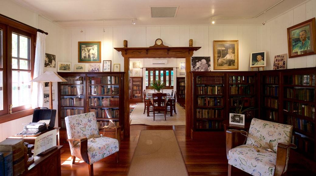 James Norman Hall Home das einen Innenansichten und Geschichtliches