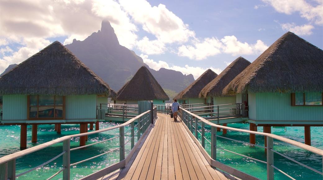 Strand des Le Meridien welches beinhaltet tropische Szenerien und Berge