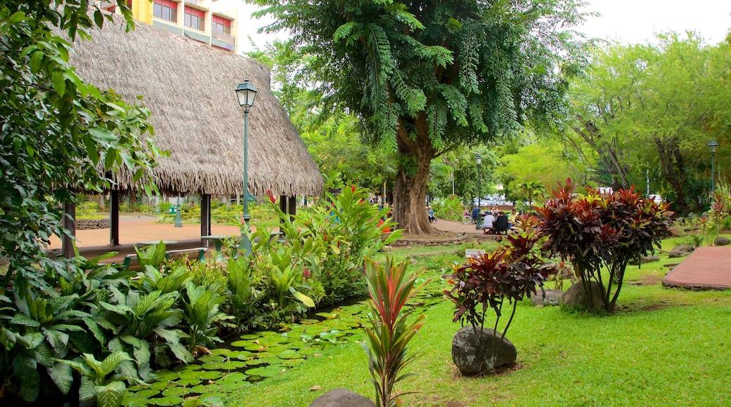 Parc Bougainville das einen Teich und Park