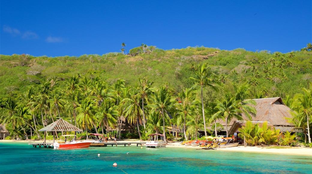 Strand des Sofitel Resort mit einem allgemeine Küstenansicht, tropische Szenerien und Strand