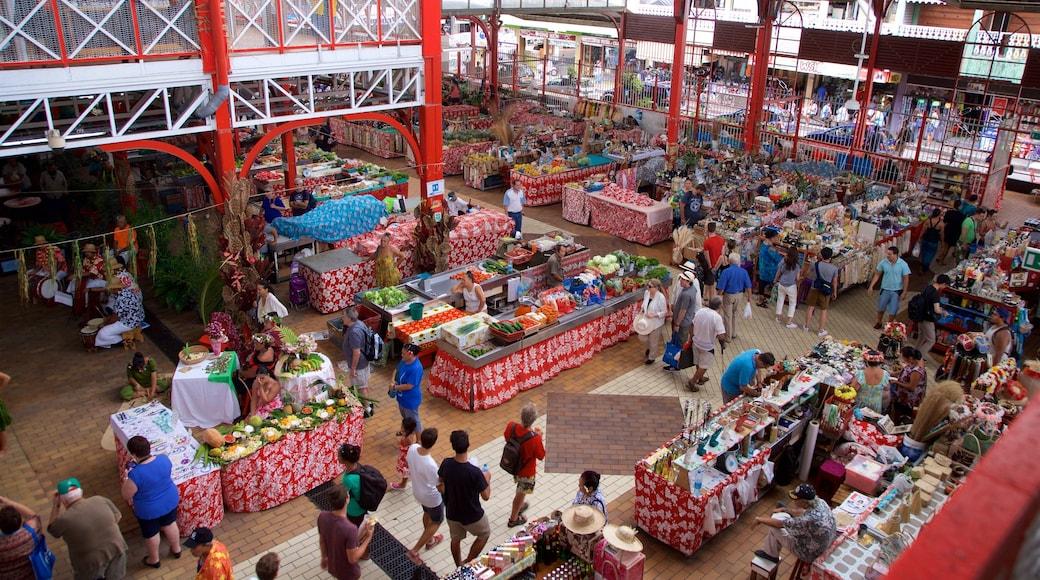 Markt von Papeete mit einem Märkte
