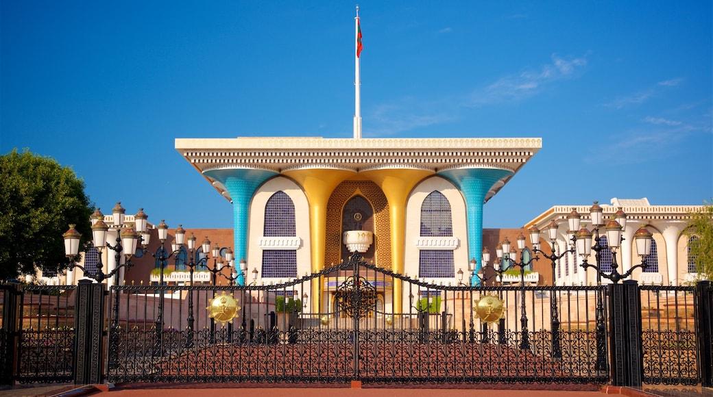 Königlicher Palast Qaṣr al-ʿalam mit einem historische Architektur und Palast oder Schloss