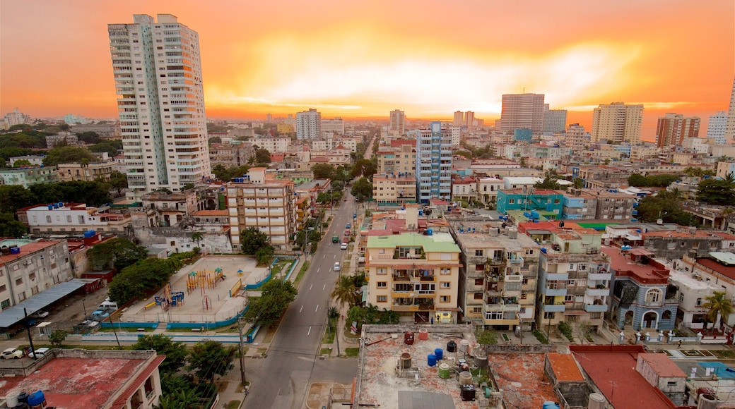 Havana which includes a city, a sunset and landscape views