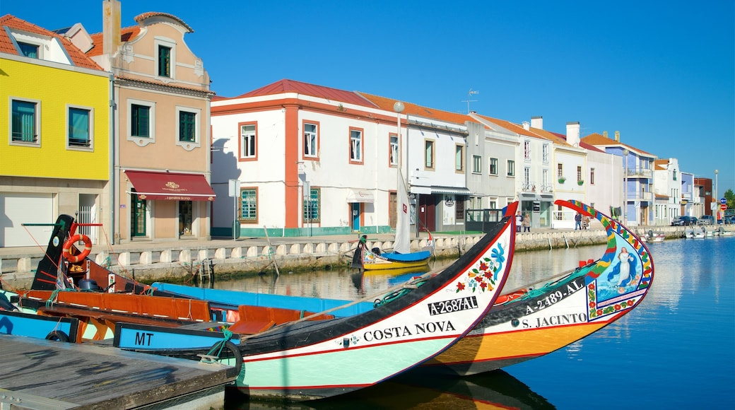 Aveiro showing a bay or harbour