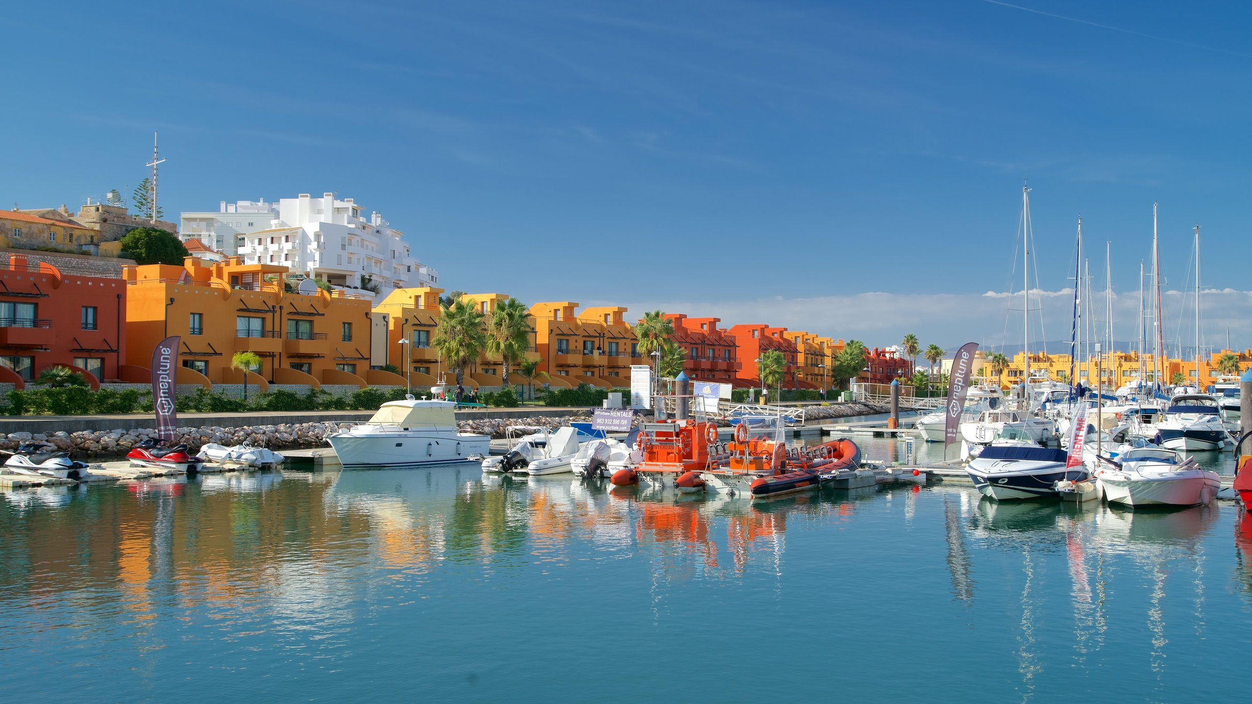 Acclaimed beaches and a pair of historic fortresses are part of this haven for super-sized yachts. Its orange and red buildings contain shops, bars and restaurants.
