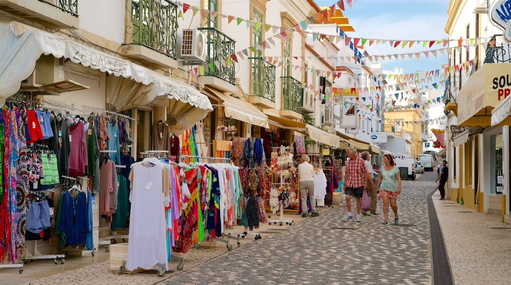 Albufeira Old Town Square featuring markets