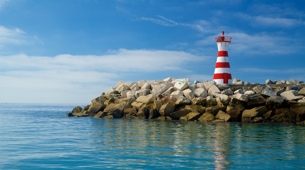 Peniche showing general coastal views, rugged coastline and a lighthouse